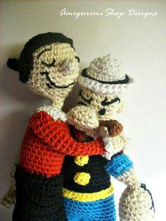 Crochet Pattern Popeye Doll : Olive Oyl vintage toy crochet pattern popeye girlfriend ...