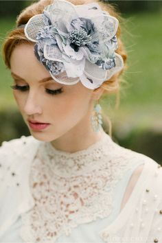 A breathtaking floral headpiece perfect for high noon tea.