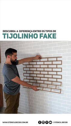 Wall Decor Design, Diy Wall Decor, Home Decor Wall Art, Wall Paint Patterns, Tiny Loft, Stencil Decor, Faux Brick Walls, Wall Painting Decor, Diy Crafts For Home Decor