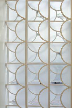 Aimé Patisserie - A gorgeous Art Deco inspired screen. Partition Screen, Divider Screen, Partition Design, Architecture Details, Interior Architecture, Interior And Exterior, Screen Design, Bar Design, Decorative Screens
