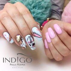 Diseños de Uñas de Disney de Moda y súper Lindas Diseños de Uñas de Disney de Moda y súper Lindas - Elegant Nail Art Ideas In Fall - Nails ART - Маникюр / Ногти / Мастера ( Disney Acrylic Nails, Disney Nails, Best Acrylic Nails, Really Cute Nails, Pretty Nails, Nail Swag, Nail Art Tropical, Nail Art Dessin, Cartoon Nail Designs