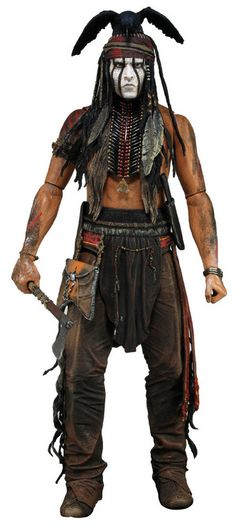 This 1/4 scale Tonto action figure features a truly incredible degree of movie-accurate detail and is sculpted with the likeness of actor Johnny Depp.  It stands an impressive 18″ tall and has over 20 points of articulation for a stunning range of poses. Tonto even comes with tomahawk and knife accessories!