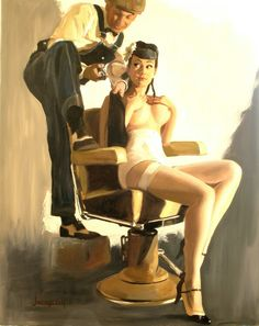 Barber shop pinup