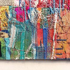 Castello Estense (detail) - Strips and swatches of painted and embroidered calico, linen and silk, with dressmaker's scraps, cotton floss,… Dressmaking, Textile Art, Swatch, Scrap, Textiles, Fabric, Artwork, Painting, Silk