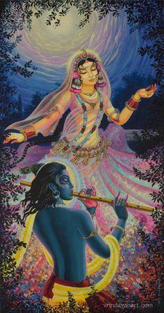Krishna Art Print featuring the painting Radharani's Dance by Vrindavan Das Krishna Lila, Jai Shree Krishna, Radha Krishna Photo, Krishna Art, Hare Krishna, Krishna Statue, Lord Krishna Images, Radha Krishna Pictures, Krishna Photos