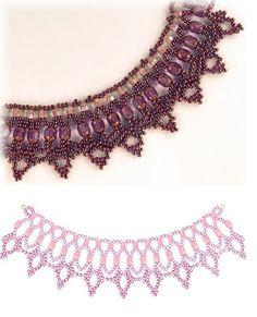 Free Pattern - Lace Lanterns Necklace Pattern by Sandra D. Halpenny!