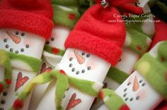cutest snowman candy bar wrappers.  The wrapper is a FREE PRINTABLE