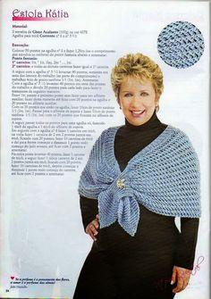 Receita de Tricô: Estola em trico Vitoria Quintal