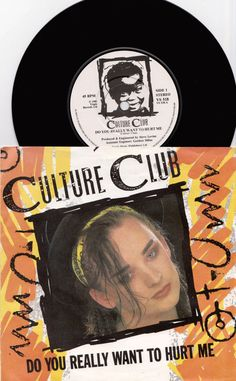"""CULTURE CLUB Do You Really Want To Hurt Me 1983 UK 7"""" 45 rpm Vinyl Single dance pop synth electro 80s new wave Boy George Vs518 Free s&h"""