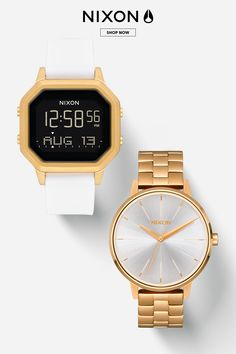 Our unique Nixon women's watches range from dainty and modern to contemporary and classic. Shop online today for your favorite women's Nixon watch. Elegant Watches, Beautiful Watches, Mens Watches For Sale, Converse, Popular Watches, Fall Jewelry, Leather Watch Bands, Best Brand, Quartz Watch
