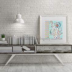 Artist Shanni Welsh's Nautical Octopus art print. Coastal octopus poster. Octopus wall art. Octopus home décor. Nautical home décor. Ocean art print.