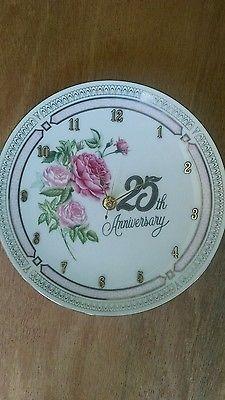 Anniversary Clock Plate-Twenty Five Years Together, 8 1/2 Inch