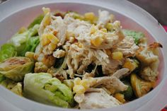 chicken salad and salad