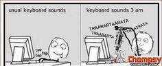 keyboard sounds loud
