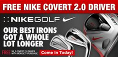 FREE Nike VR_S Covert 2.0 Driver with purchase of iron set. Shop Now: http://www.progolfseattle.com/current-sale