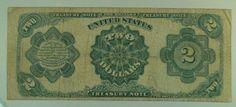 US Bill 1891 $2 Treasury (McPherson) Note