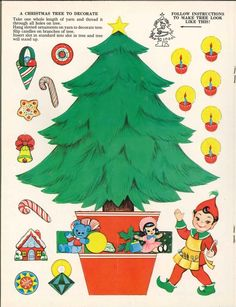 Free Christmas Images - Craft Idea: Use for felt book - Decorate a Tree theme. Print onto transfer paper, iron on, cut out - Put the tree on Flannel Christmas Books, Christmas Paper, Christmas Crafts For Kids, Christmas Printables, Christmas Greetings, Christmas Tree, Christmas Stuff, Christmas Ideas, Winter Christmas