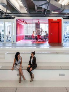 """iHeartMedia, NYC: """"No dropped ceilings. No marble. No smoke and mirrors,"""" Dag Folger, part of the Architecture + Information team, told Interior Design. Beneville called the look """"battleship, not a cruise ship."""""""