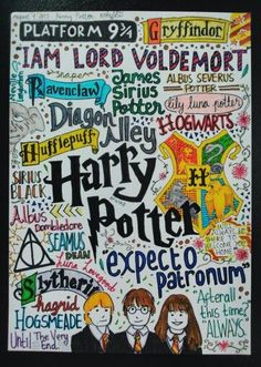 Harry Potter Collage [ig: wikearts] so cool! Harry Potter World, Theme Harry Potter, Harry Potter Pin, Harry Potter Drawings, Harry Potter Quotes, Hogwarts, Ravenclaw, Ridiculous Harry Potter, Harry Potter Preferences