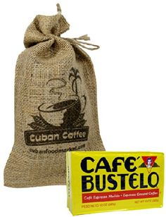 Cafe Bustelo. 10 oz vacuum pack, includes a beautiful burlap bag. >>> Check this awesome product by going to the link at the image.