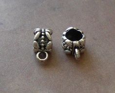 20 Bail Butterfly Connector Charm European Spacer Beads Fits Charm Bracelets