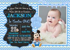10 custom baby mickey mouse 1st birthday invitations httpwww baby mickey mouse first birthday invitation baby by luckypixel filmwisefo
