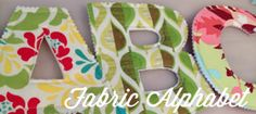 Fabric Alphabet | Handmade in the Heartland: Fabric Alphabet