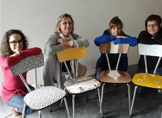 <P>En 4 heures top chrono, Élise, Marianne, Bénédicte et Vinciane ont relooké leur chaise, la nouvelle touche « fantaisie » de leur maison.</P>