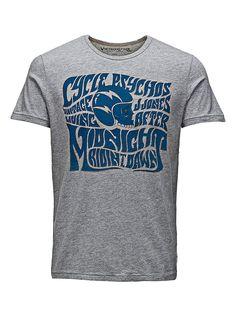 JACK & JONES VINTAGE CLOTHING - T-Shirt von VINTAGE - Slim fit - Rundhals - Print auf Wasserbasis vorn - Markenlogo-Patch am Saum 100% Baumwolle...