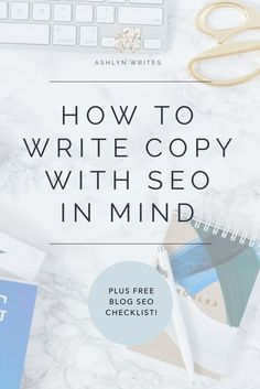 Copywriting tips for SEO? Check! Here's a checklist to make sure you're set.