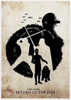 Star Wars Trilogy 11x17 Poster Set por sanasini en Etsy