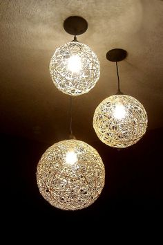 Chandelier, hanging lighting, home lighting, hemp lights, yarn lights, natural lighting