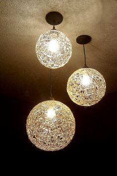 Chandelier, hanging lighting, home lighting, hemp lights, yarn lights, natural lighting