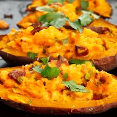 This baked sweet potato recipe will become a family favorite. Stuffed Fluffy Sweet Potatoes Recipe from Grandmothers Kitchen.