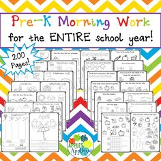 Pre-K Morning Work for the ENTIRE School Year | Apples to Applique