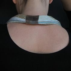 'The Weight of the World... ' - neck book - back view - Jasmine Matus
