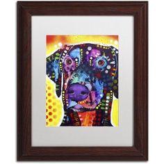 Trademark Fine Art Dobie Canvas Art by Dean Russo, White Matte, Wood Frame, Size: 11 x 14, Brown