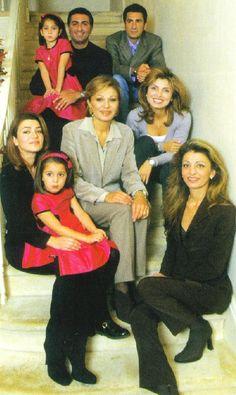 Pahlavi Royal Family - Empress Farah surrounded by her children and grandchildren