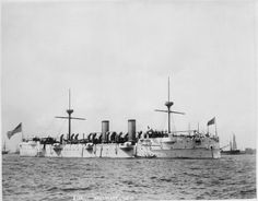 USS Baltimore (C-3, CM-1) circa 1891. Baltimore served in the North Atlantic, Mediterranean and Pacific Squadrons prior to WWI, participating in the destruction of the Spanish Fleet in Manila. After several years in decommission she was recommissioned for WWI as a minelayer in the Irish Channel. returning tho the Pacific, she was a receiving ship at Pearl Harbor and subsequetly sold for scrap in 1942.