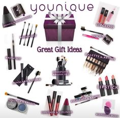 Younique gifts are perfect for family, friends teachers anyone who deserves fabulous makeup! www.abcyounique.com