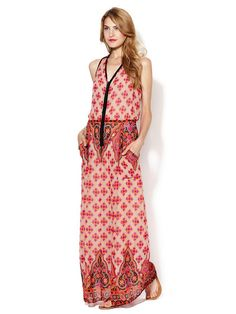 Electrifying Silk Printed Maxi Dress by Nanette Lepore