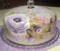 Beautiful vintage cake cover #shabby #cake #roses & Shabby Chic Pedestal Cake Plate ~ Roses   art   Pinterest ...