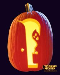 """""""Treats for me?"""" from Pumpkin Masters. This pattern is free! Visit Pumpkin Masters for more free downloads!"""