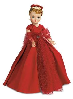Elegant 1955 Madame Alexander Cissy in red. Theriault's Antique Doll Auctions