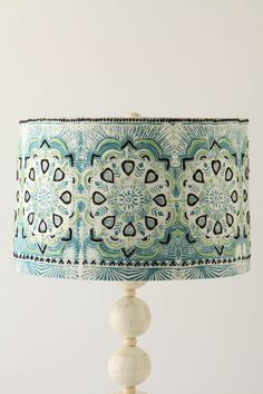 feather medallion lamp