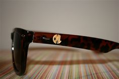 @moxiethrift on etsy Cox saw these and thought of you.  Monogramed Sunglasses