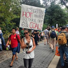 The 10 Funniest Protest Signs From the People's Climate March: It's Getting Hot In Here