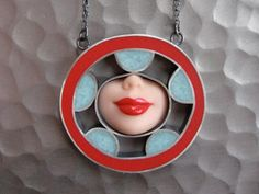 all sorts of recycled barbie-part jewelry by Margaux Lange