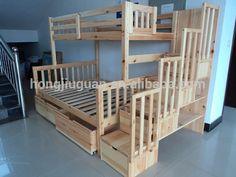 Beautiful wooden bunk beds, morden bedroom furniture,pine bunk bed