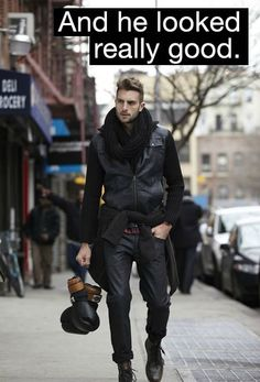 Can guys wear scarves well, or is it not attractive? Masculine scarf wearing inspiration. Men's fashion
